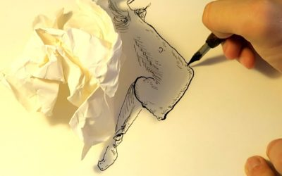 Drawing Faces From Shadows of Paper Wads