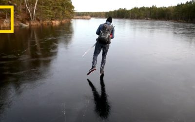 See how sci-fi movies get laser sound effects by skating on thin ice